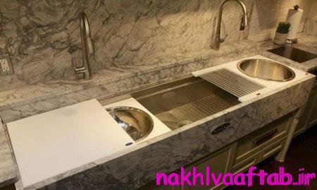 ظرفشویی های مدرن آشپزخانه,آشنایی با انواع سینک های مدرن