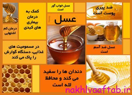 آشنایی با انواع عسل,خواص دارویی عسل