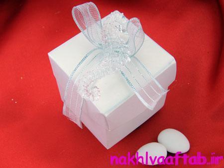 مدل تزیین هدایای عروس و داماد, تزیین جعبه هدیه