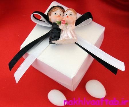 تزیین هدایای عروس و داماد, تزیین جعبه هدیه برای عروس و داماد
