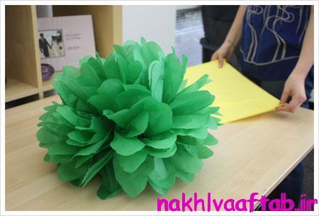 ساخت گل های کاغذی,آموزش درست کردن گل های کاغذی