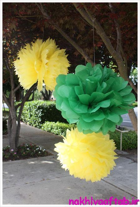ساخت تزیینات جشن تولد, آموزش تصویری ساخت گل های کاغذی