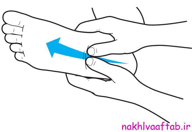 ماساژ برای درمان درد پاشنه پا