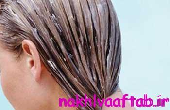 ماسک درمانی برای موهای خشک