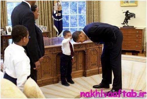 جنجالی ترین عکس اوباما در کاخ سفید