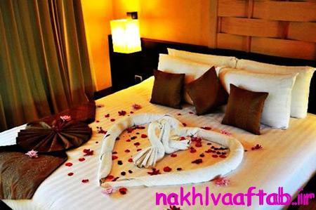 تزیین تخت عروس و دماد,اتاق خواب عروس,تزیین تخت خواب