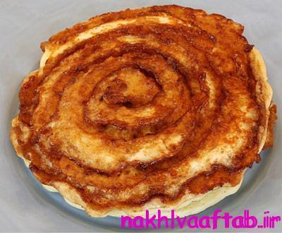 پخت پنکیک دارچینی,طرز درست کردن پنکیک دارچینی