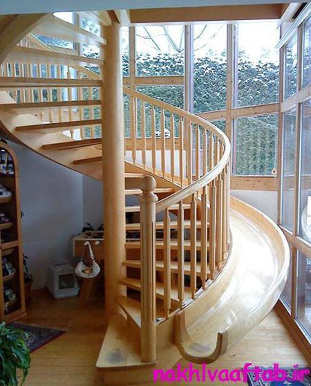 مدل های طراحی سرسره در خانه,سرسره اتاق کودکان