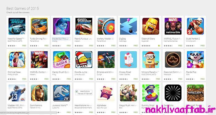 بهترین بازیهای گوگل پلی در سال 2015