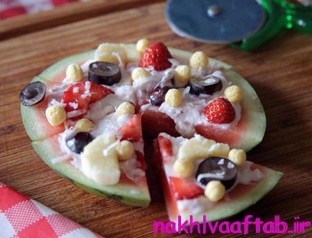 پیتزاهای میوه ای,پیتزا با هندوانه
