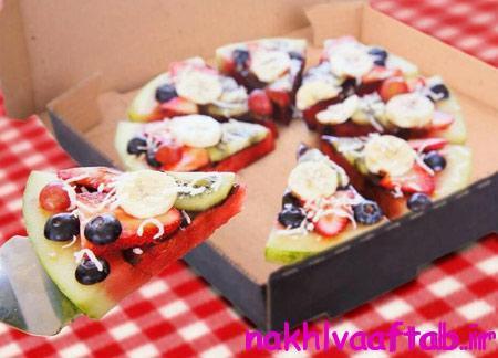 تزیین میوه های شب چله, پیتزاهای میوه ای
