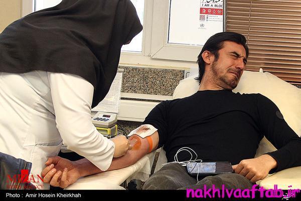 وحشت مهدی رحمتی از اهدای خون! + عکس