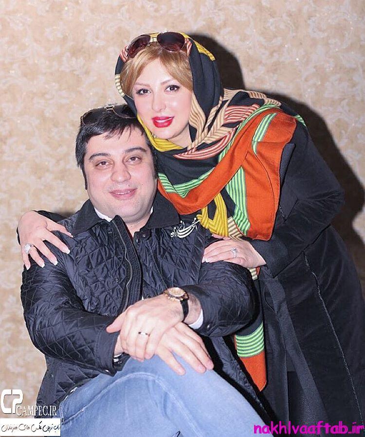 عکس نیوشا ضیغمی با همسرش در زمستان 94