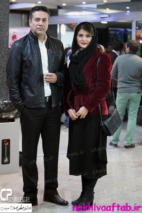 عکس حمید رضا پگاه با همسرش در زمستان 94
