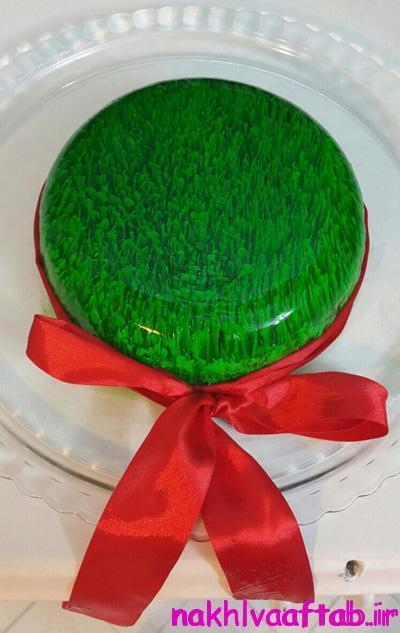 تهیه ژله به شکل سبزه هفت سین