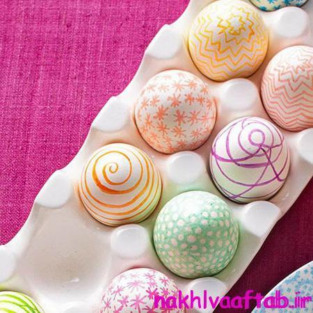 تزیین تخم مرغ نوروزی