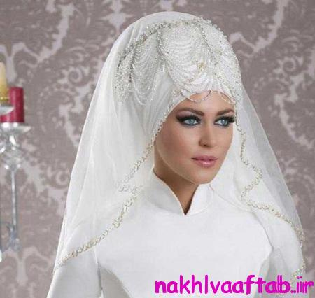 مدل های تاج و تور عروس محجبه