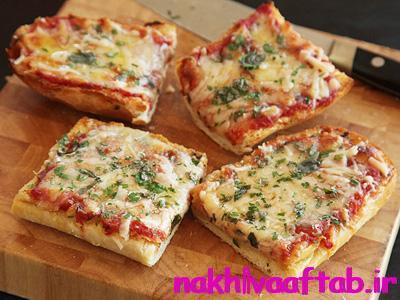 پیتزا تک نفره با نان ساندویچی