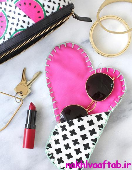 کیف زیبا,الگوی دوخت,کیف عینک,کیف موبایل,دوخت کیف موبایل,دوخت کیف برای عینک,دوخت کیف